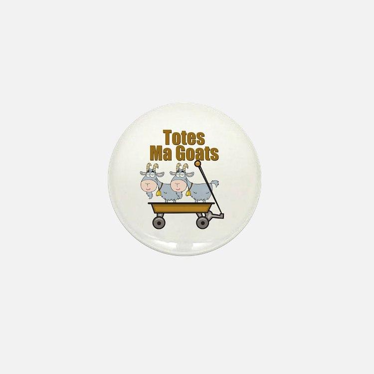 Totes Ma Goats Mini Button