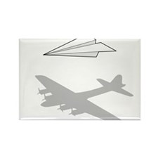 Paper Airplane Overactive Imagination Magnets
