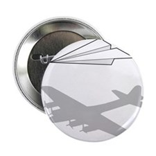 "Paper Airplane Overactive Imagination 2.25"" Button"