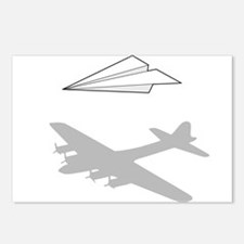 Paper Airplane Overactive Imagination Postcards (P