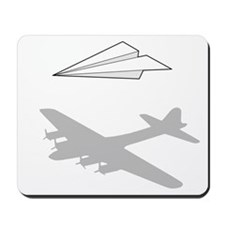Paper Airplane Overactive Imagination Mousepad