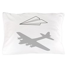 Paper Airplane Overactive Imagination Pillow Case