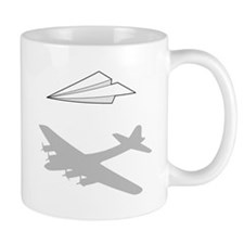 Paper Airplane Overactive Imagination Mugs