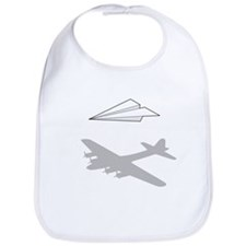 Paper Airplane Overactive Imagination Bib