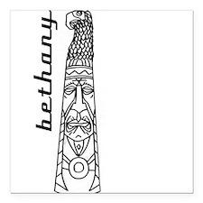 """Unique Totem poles Square Car Magnet 3"""" x 3"""""""