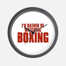 I'd Rather Be Watching Boxing Wall Clock