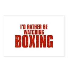 I'd Rather Be Watching Boxing Postcards (Package o