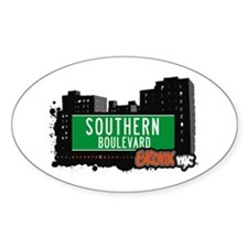 Southern Blvd, Bronx, NYC Oval Decal