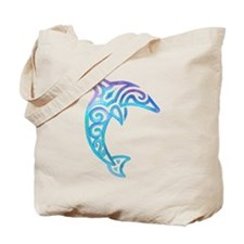 Tribal Dolphin Tote Bag