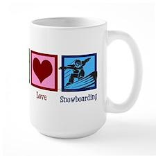 Peace Love Snowboarding Mug