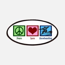 Peace Love Snowboarding Patches