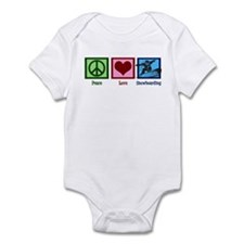 Peace Love Snowboarding Infant Bodysuit