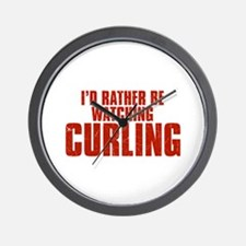 I'd Rather Be Watching Curling Wall Clock