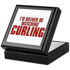 I'd Rather Be Watching Curling Keepsake Box