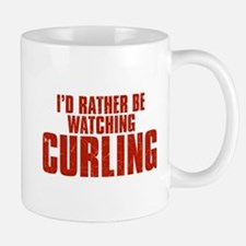 I'd Rather Be Watching Curling Mug