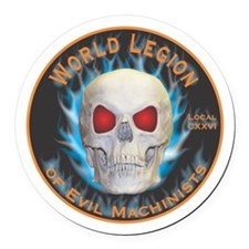 Legion of Evil Machinists Round Car Magnet