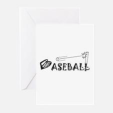 BASEBALL Pictograph Greeting Cards (Pk of 10)