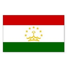 Tajikistan Flag Sticker (rectangle)