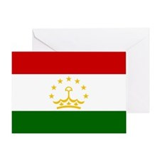 Tajikistan Flag Greeting Card