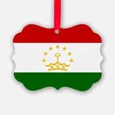 Tajikistan Flag Ornament