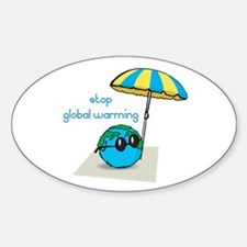 Stop Global Warming Oval Decal