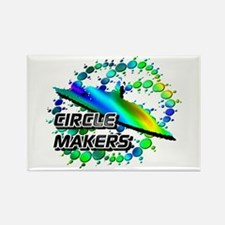 Circle Makers Blue Green Rectangle Magnet