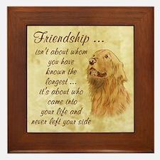Friendship - Dog Framed Tile