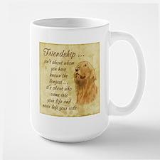 Friendship - Dog Large Mug