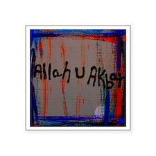 "Allah U Akbar Square Sticker 3"" x 3"""