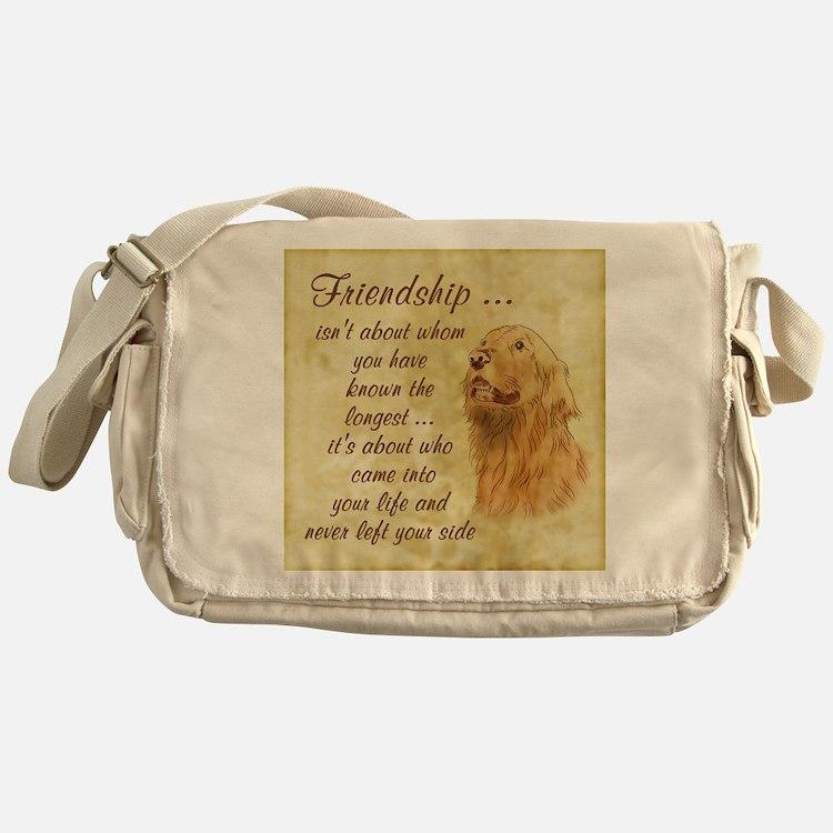 Friendship - Dog Messenger Bag