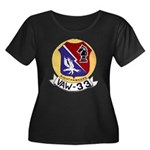 VAW 33 Women's Plus Size Scoop Neck Dark T-Shirt