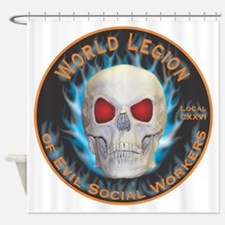 Legion of Evil Social Workers Shower Curtain