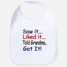 Saw it, liked it, told Grandma, got it! Bib