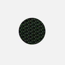 Cannabis Leaf Weed Pot Pattern Mini Button