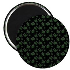 Cannabis Leaf Weed Pot Pattern Magnet