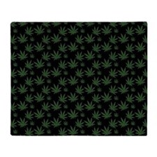 Cannabis Leaf Weed Pot Pattern Throw Blanket