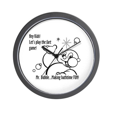 The Fart Game Wall Clock