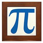 Pi Symbol Framed Tile