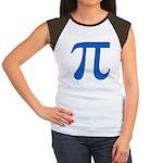 Pi Symbol Women's Cap Sleeve T-Shirt
