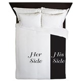 His side her side Duvet Covers