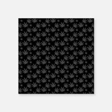 """Marijuana Leaf Pattern Square Sticker 3"""" x 3"""""""