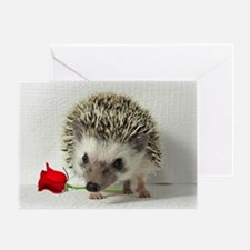 hedgehog with rose Greeting Card