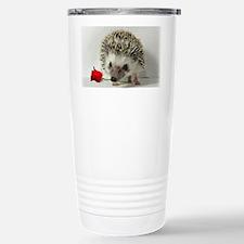 hedgehog with rose Travel Mug