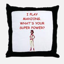 MAHJOMG2 Throw Pillow