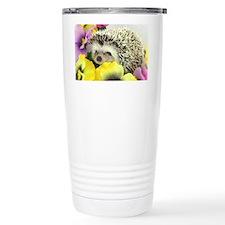 Hedgehog in flowers Thermos Mug