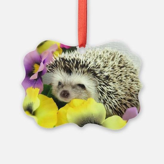 Hedgehog in flowers Ornament