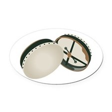 Irish Bodhran Drums Oval Car Magnet