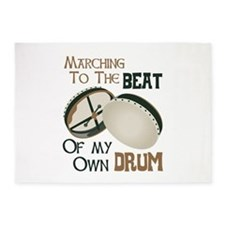 MARCHING TO THE BEAT OF MY OWN DRUM 5'x7'Area Rug