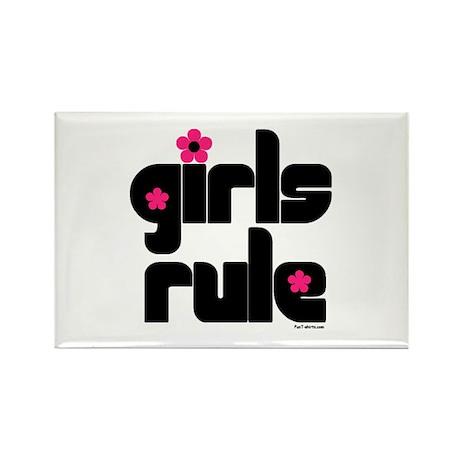 Girls Rule Rectangle Magnet (10 pack)