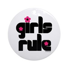 Girls Rule Ornament (Round)